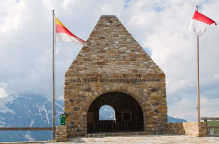 Monument alaong the road - National park Hohe Tauern (Austria)