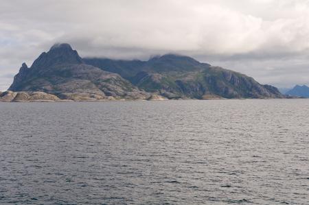 landscape of Norwegian fjord.