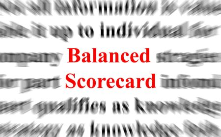 a conceptual image with the focus on the balanced scorecard