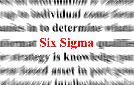 milestones: a conceptual image with the focus on the word six sigma