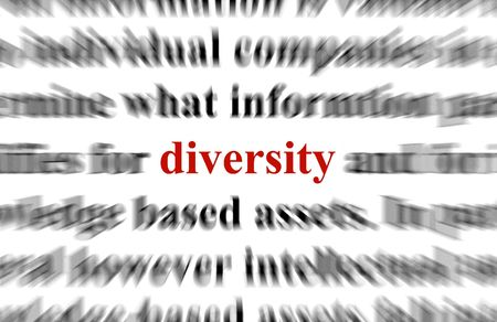a conceptual image representing a focus on the words diversity