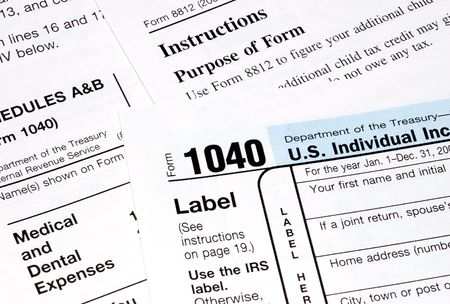 federal tax forms laying on a table