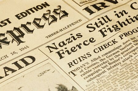 nazis: world war ii british newspaper dated march 16 1944