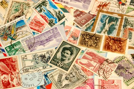 postage stamps from around the world. Some dating back to the 1940s