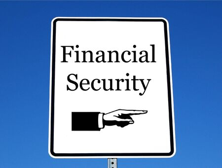 Street sign with a financial security theme Stock Photo - 733893