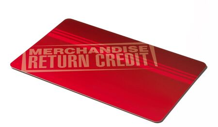 merchandise return credit at a department store