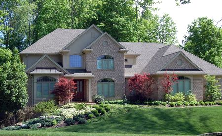 wooded: Beautiful home on wooded lot on a nice day