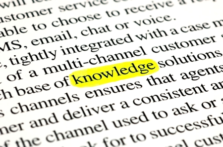 instruct: The word knowledge highlighted with a yellow marker