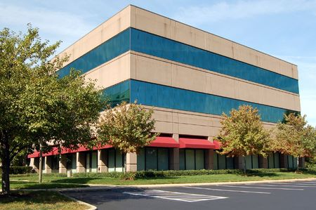 Modern office building in an industrial complex