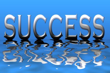 An illustration of the word success Stock Illustration - 2176546