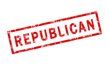 A grunge stamp of the word republican
