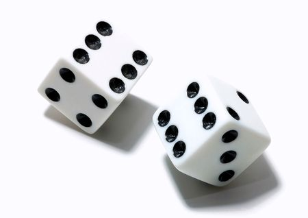 Two dice isolated on a white background
