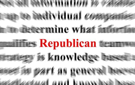 Blurred image with the focus on the word Republican