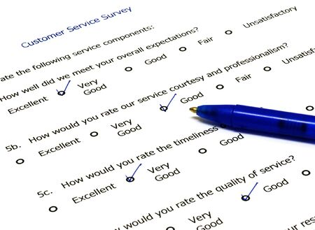 Customer feedback form with pen on the side Stock Photo - 3808058