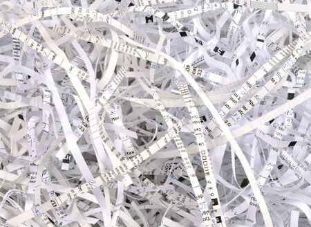 Shredded documents representing privacy or security protection