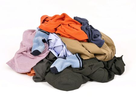 dirty clothes: Pile of dirty clothes Stock Photo
