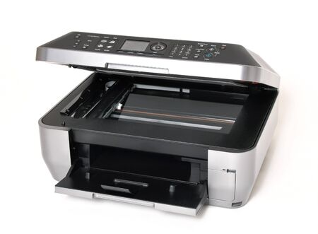 ink jet: All in one color printer on a white background