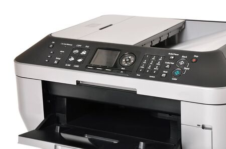 all one: Close up of a all in one color printer