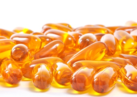 Omega 3 fish oil capsules photo
