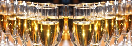 Champagne celebration on New Year s