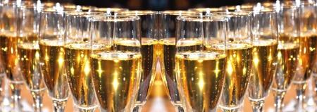 Champagne viering op Nieuwjaar s