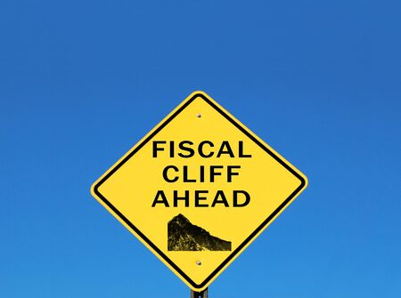 fiscal cliff: Fiscal cliff warning sign