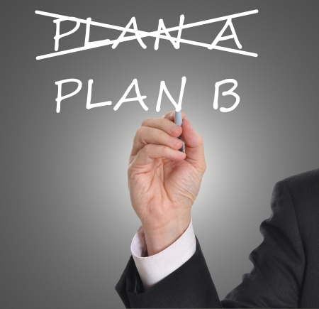 plan b: Business plan strategy changing from plan A to plan B