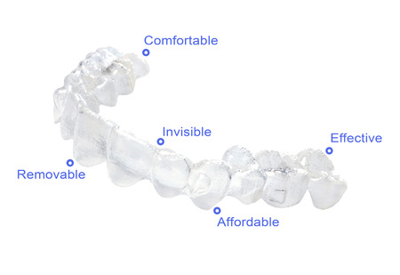 braces: Invisible braces on a white background