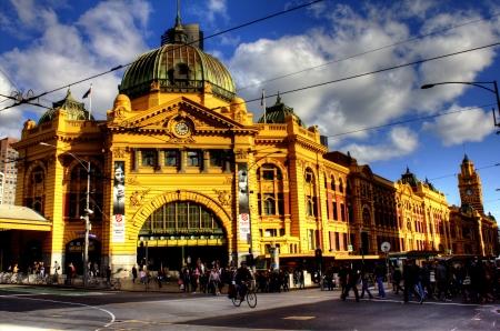 melbourne: Flinders Street Station in Melbourne, Australia