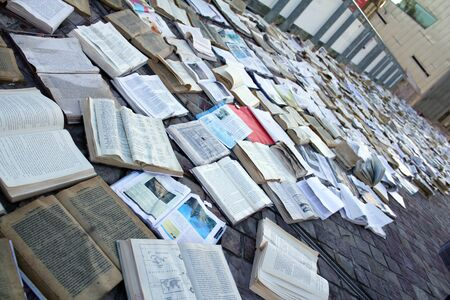 The books at Federation Square, Melbourne Australia