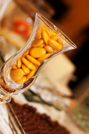 sweet confectionery in a glass Stock Photo