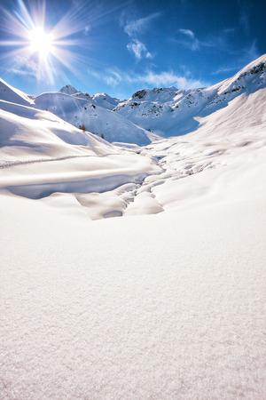 The italian alps in winter