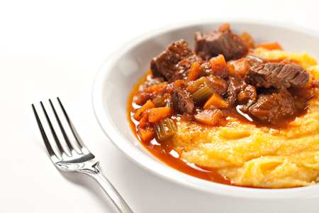 Polenta and stew photo