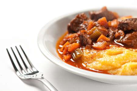 Polenta and stew photo