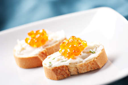 canapes: Caviar Canapes