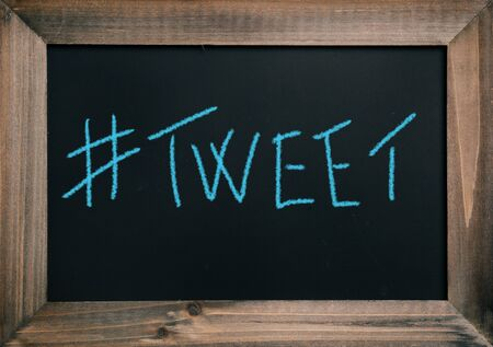tweet: Tweet Stock Photo