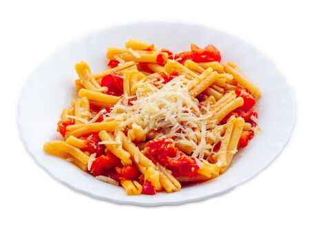 Pasta with tomato sauce and parmesan cheese 写真素材