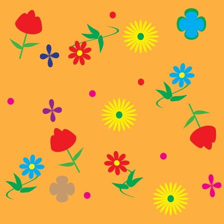 inflorescence: floral pattern in vector format, for design and illustrations