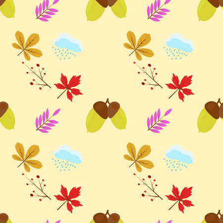 Autumn seamless pattern design for printing on a variety of surfaces