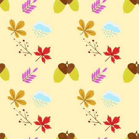 Diseño sin patrón de otoño para imprimir en una variedad de superficies Foto de archivo - 58453422