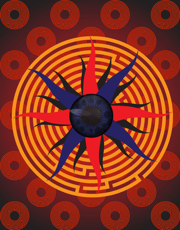 difficult situation: the human eye in the maze, find a way out of a difficult situation