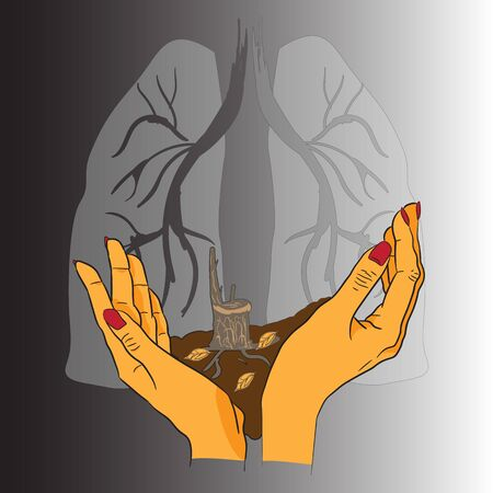 public opinion: abstract illustration of the health of the planet earth Illustration