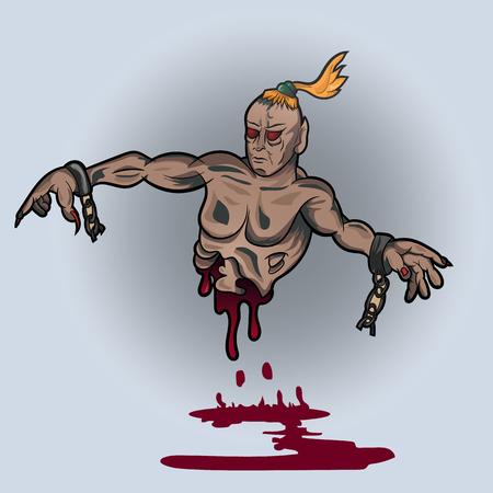 Vektor-Illustration einer Zauberin in Ketten Standard-Bild - 76176397