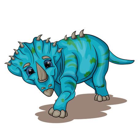Vector illustration of a little dinosaur cub Illustration