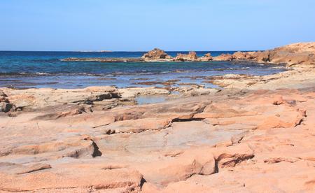 hanikra: A small bay on the Mediterranean coast near the Rosh Hanikra, Israel