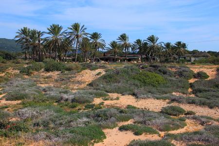 hanikra: Abandoned bungalows near Rosh Hanikra on the Mediterranean coast.