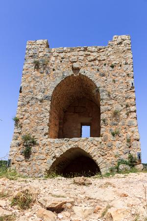 watchtower: Watchtower of the castle Monfort in northern Israel