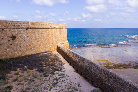 acre: Fragment of the fortress wall in Old Acre