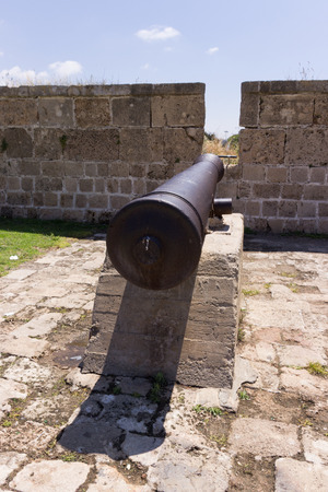 acre: Old cannon on the fortress wall in the Old Acre