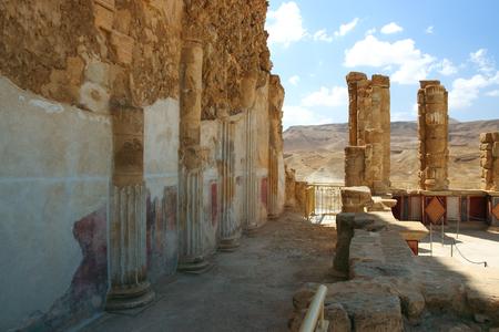 masada: Inside the ruins of the fortress of Masada in Israel